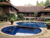 Antique lanna house with private pool for sale Chiang Mai, Thailand .