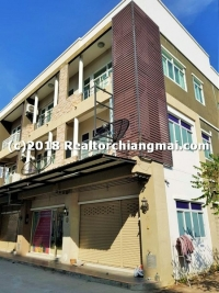 3 Storey Commercial Building for sale in San Sai, Chiangmai, Thailand.