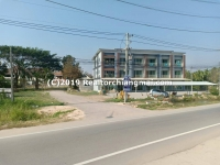 Land with Commercial Building for Sale in Saraphi, Chiangmai, Thailand.