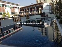 Condo with mountain views for rent in Chiang Mai, Thailand.