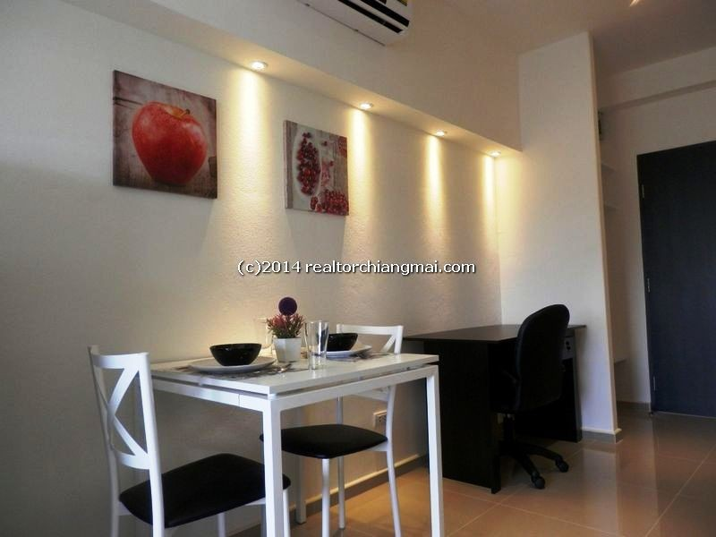 Cozy fully furnished studio room for rent in Chiangmai, Thailand