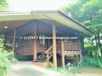 Wood house for rent in the city, Chiangmai, Thailand.