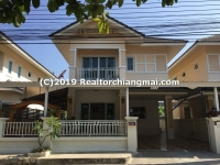 Double Storey House for Rent in Saraphi, Chiangmai, Thailand.