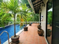 Single storey house for rent with private swimming pool in Hang Dong, Chiangmai