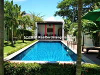 House for sale with Swimming Pool in Mae Hia, Chiangmai, Thailand.