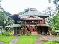 Lanna style wooden house for SALE in Sansai, Chiangmai, Thailand