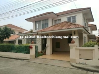 Double Storey House for rent in San Sai, Chiangmai, Thailand.