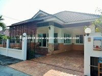 Single storey house for rent in San Sai, Chiang Mai, Near Mee Chok Plaza