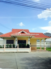 Single Storey House for rent in San Sai, Chiangmai, Thailand.