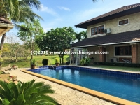 House with Private Swimming Pool inside gate community for rent in Chiang Mai