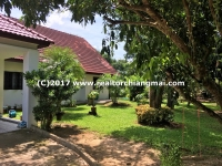 House for rent with a big garden in San Kampheang, Chiang Mai