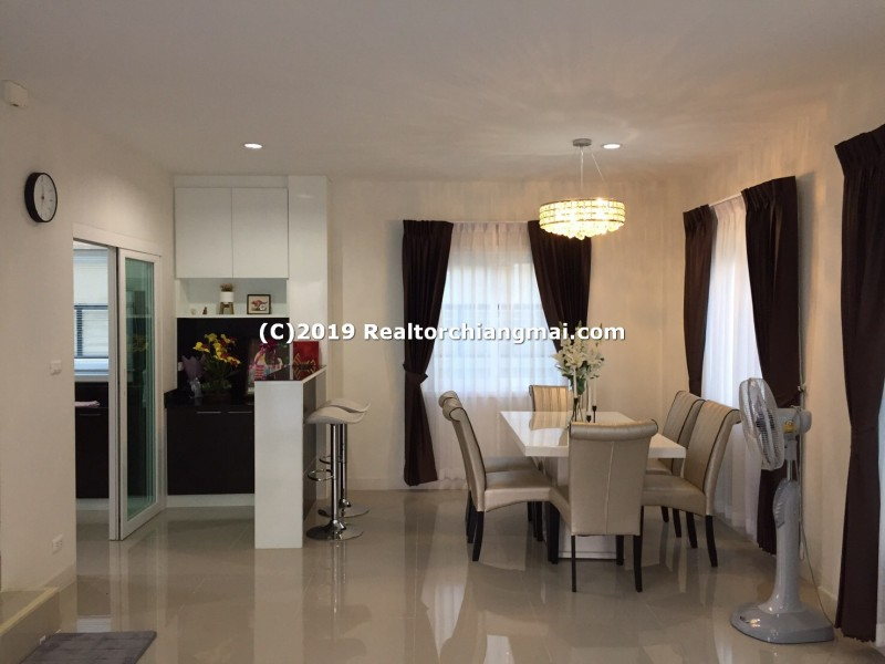 Double Storey House for rent Near Promenada Resort Mall Chiang Mai.