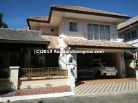 A Big Double Storey House for Rent in Chaiya Satarn, Saraphi, Chiang Mai.