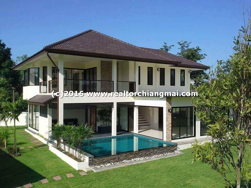 House for rent with swimming pool in Wiang Doi Village Doi Saket Chiang Mai, Thailand