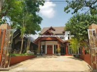 Teak wood house for sale in Wiang Kum Kam Chiangmai, Thailand.