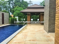 House for sale with Swimming Pool in Wang Tan Village, Hang Dong, Chiangmai, Thailand.