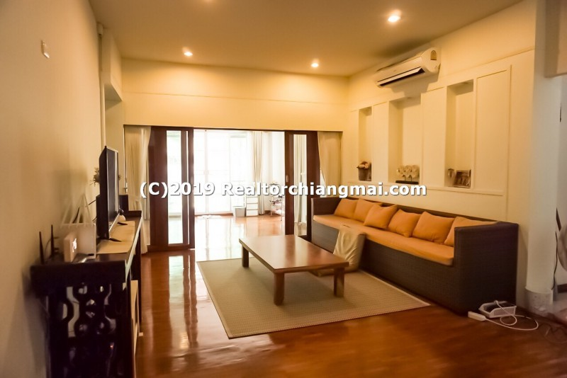 Luxury Single Storey House with big Land for Sale inside Baan Wang Tan,  Hang Dong, Chiang Mai.