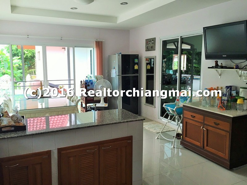 The accent of elegant relaxing house inside executive community  for sale in Chiangmai, Thailand