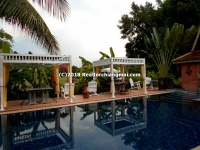 Wood House with Swimming Pool for sale in San Sai, Chiangmai, Thailand.