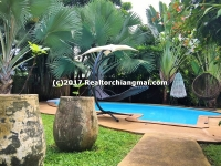 Modern Lanna House with swimming pool for sale and for rent in Hang Dong, Chiang Mai, Thailand.