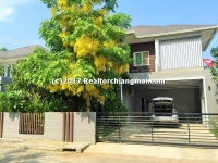 Modern house for sale located in Hang Dong, Chiangmai, Thailand.