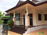 One storey house in good community for rent in Chiangmai, Thailand