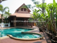 House with pool for rent in Sansai, Chiangmai, Thailand