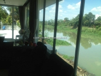 Nice Vintage White house for Sale on the ping river, Chiangmai, Thailand