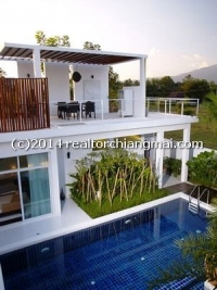 Beautiful Luxury Homes with private swimming pool & mountain view for rent in Chiangmai, Thailand