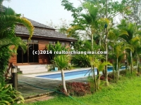 3 Houses for sale with swimming pool inside Green Valley, Maerim,Chiangmai, Thailand