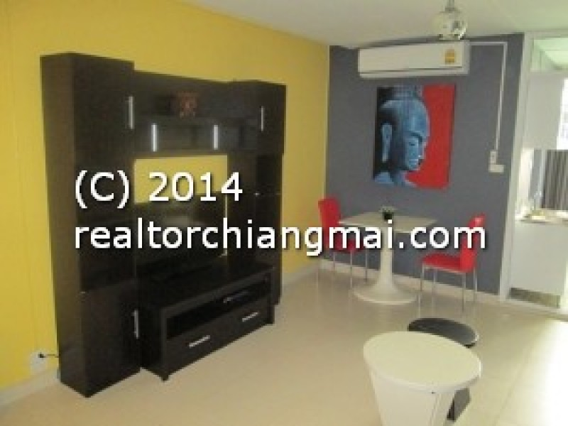 Condo for rent close to Realway Station in Chiang Mai, Thailand.