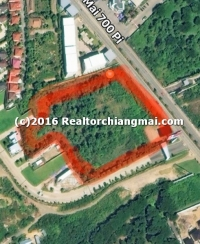 Land for sale near Chiangmai University  Thailand.