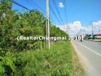 Land for Sale 45 Rai Canal Road Nongkwai Chiangmai Thailand