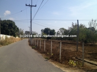 Nice Land for sale 10 Rai with Canal in Chiangmai, Thailand.