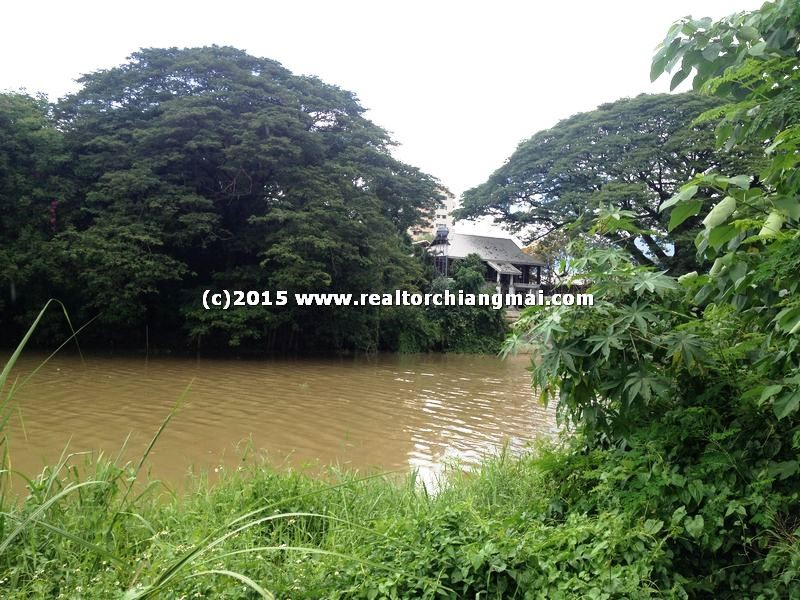 Land for sale with frontage plots land Ping river near Rimping SuperMarket, Chiangmai,Thailand