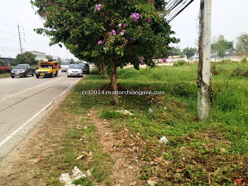 Land for sale 3 Rai on Chiangmai-Doi Saket  super hightway road, Chiangmai, Thailand