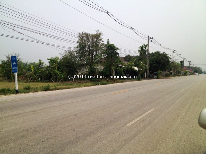 Land for sale 1 Rai 3 Ngan on Road 1014 San Kamphaeng-Doi Saket road, Chiangmai, Thailand