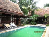 Lanna House for rent with private swimming pool closed to Ping River in Chiang Mai Thailand.