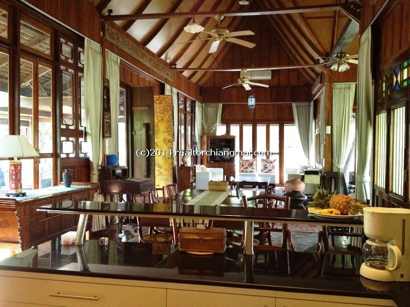 Perfect  Lanna villa house with pool for rent, Flawless by the Ping River in Chiangmai, Thailand