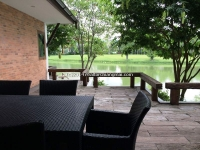 Modern Lanna style house with swimming for sale with lake view in Mae Rim, Chiangmai, Thailand.