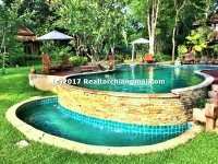 Luxury Lanna Resort with mountain&river view for rent Chiang Mai, Thailand.